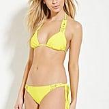 Forever 21 Macrame Top ($11) and Side Brazilian Bikini Bottoms ($15)