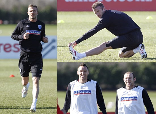 Photos of David Beckham With John Terry, Wayne Rooney and Rest of England Squad Ahead of Egypt Friendly