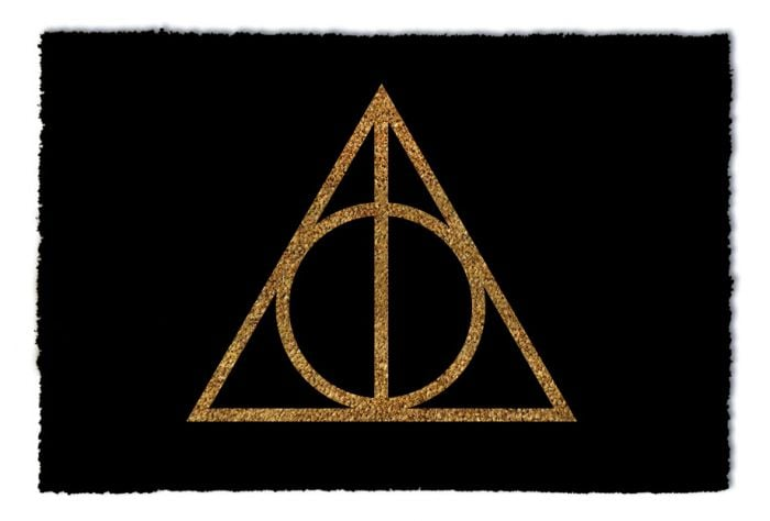 Harry Potter Tread Carefully Deathly Hallows Doormat