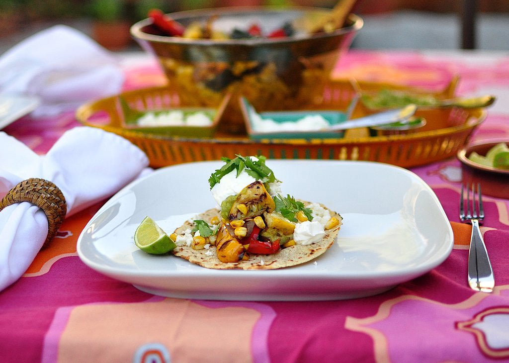 Grilled Vegetable Tacos With Guacamole