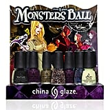 Deck out your nails with the glimmering shades from the China Glaze Monsters Ball Collection ($8 each). It also features a black textured polish and a glow-in-the-dark top coat for added spookiness. It's up to you to pick your poison.