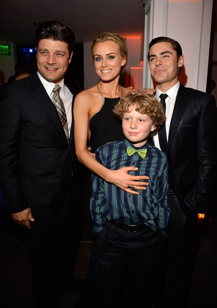 Jay R. Ferguson, Taylor Schilling, Zac Efron, and Riley Thomas Stewart at the afterparty for the Lucky One premiere in LA.