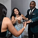 Idris Elba and Gina Rodriguez at the Golden Globes 2019