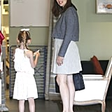 Jennifer Garner looked cute in heels and a dress as she spent the day with Violet Affleck.