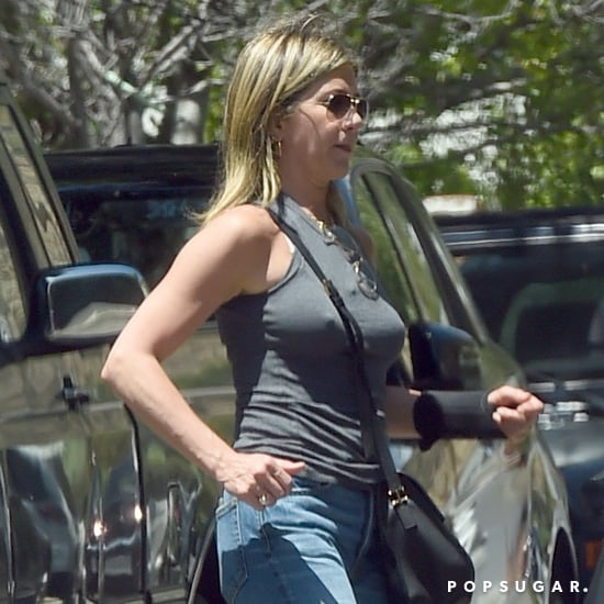 Jennifer Aniston's Silver Sandals