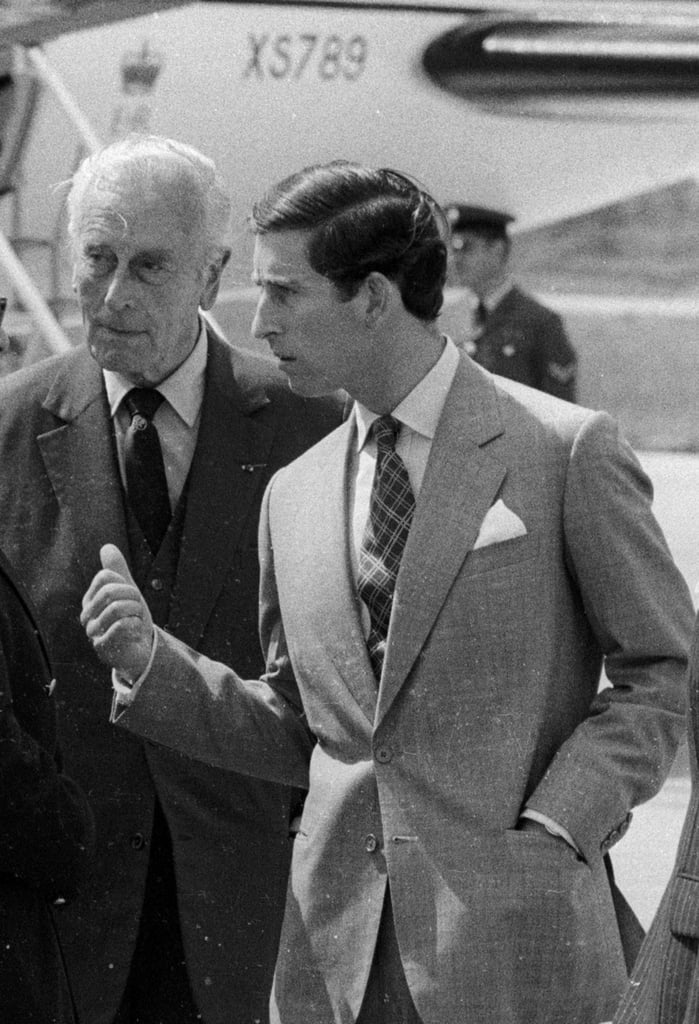 Prince Charles and Lord Mountbatten in France