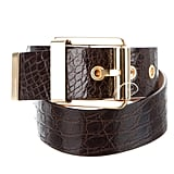 Michael Kors Alligator Buckle Belt