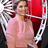 Queen Máxima at the Museum and Fashion and Design in Paris.
