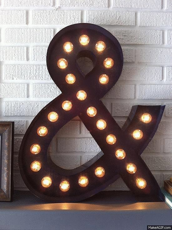 This DIY marquee light only looks like it cost hundreds. Source: Happy Looks Good on You