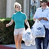 Britney Spears headed back to the car.