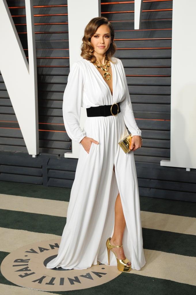 Jessica Alba Dress at Oscars Vanity Fair Party 2016 | POPSUGAR Latina