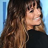 Lea Michele posed on the red carpet.
