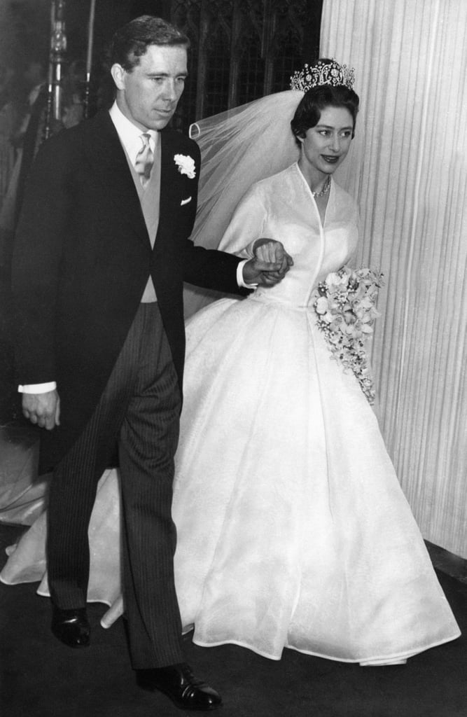 Princess Margaret and Antony Armstrong-Jones The Bride: Princess Margaret, younger sister of Queen Elizabeth II. The Groom: Antony Armstrong-Jones, a photographer. Although, Princess Margaret's first love was the divorced Peter Townsend, whom her sister forbade her from marrying. When: May 6, 1960. Where: Westminster Abbey. It was the first royal wedding broadcast on TV and attracted 300 international viewers.
