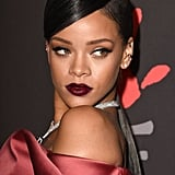 Rihanna smouldered in diamonds and dark lipstick.