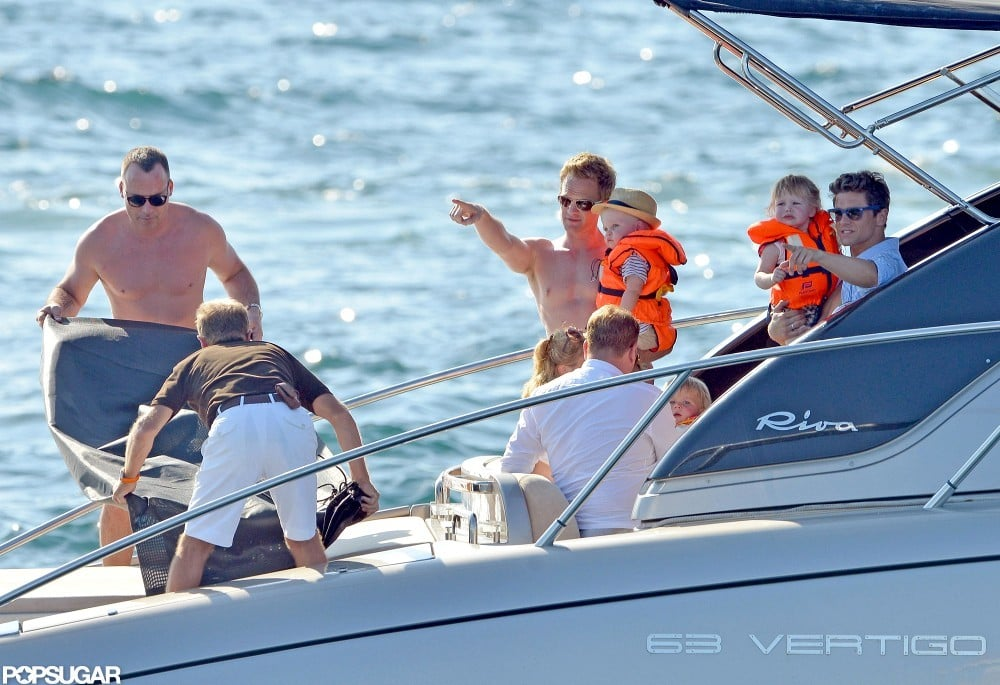 Neil Patrick Harris and David Burtka showed their kids the view in Saint-Tropez.