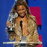 2003: Beyoncé scooped up three Moonmen.