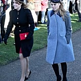 Pincess Beatrice and Princess Eugenie also attended the services on Christmas Day.