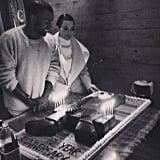 Kim Kardashian helped Kanye West celebrate the 10th anniversary of his debut album, College Dropout. Source: Instagram user kimkardashian