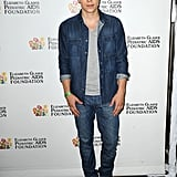 Nolan Funk wore denim on denim.