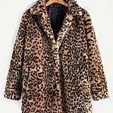 Shein Leopard Faux Fur Coat