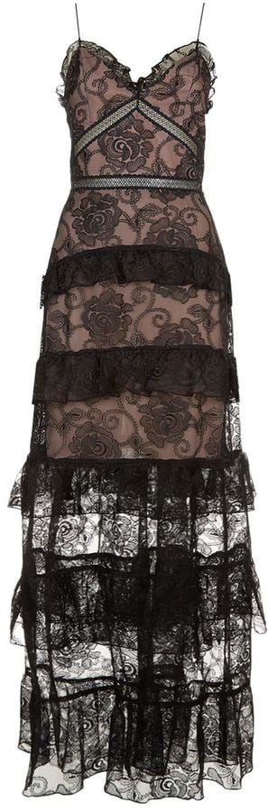 Nicholas Rosie Embroidered Lace Tiered Gown