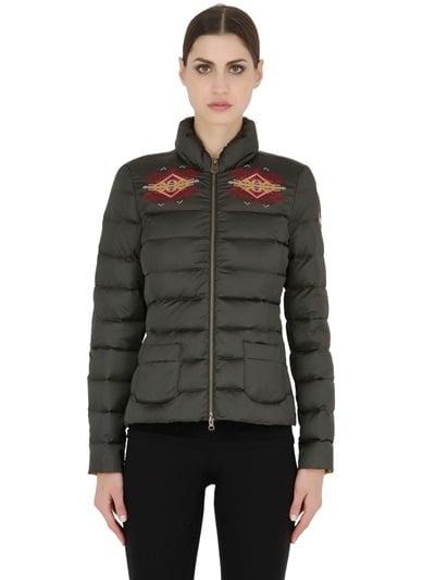 Embroidered Nylon Down Jacket ($405, originally $450)