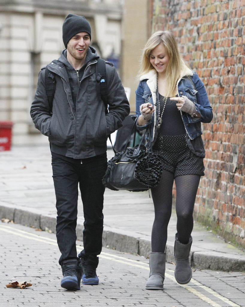 Tina O'Brien and her dancing partner Jared Murillo were with their Strictly Come Dancing pals in Nottingham yesterday. We saw the group arrive at the beginning of the week to start rehearsing for their tour, which kicks off on Friday. Kara Tointon and her officially confirmed boyfriend Artem Chigvintsev are together for the live dates over the next month. Other celebs spotted yesterday include Pamela Stephenson, Patsy Kensit, Ricky Whittle, and Jimi Mistry, who will dance with Kristina Rihanoff. Ann Widdecombe is also taking to the dance floor, but instead of Anton du Beke, she will be paired with Craig Revel Horwood! Craig will also assume his role of judge alongside Bruno Tonioli and Len Goodman, and Zoe Ball will host.