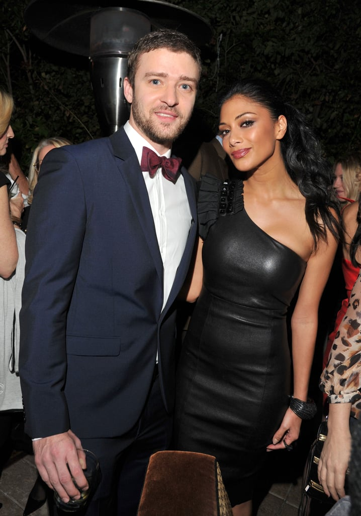 Justin, looking dapper in a bow tie, posed with Nicole Scherzinger