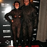 Showing off her second costume, Heidi Klum joined hubby Seal in a seriously life-like monkey costume in 2011.