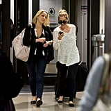 Lauren Conrad and a friend arrived in LA.