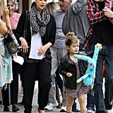 Jessica Alba and Honor at Nate's in Beverly Hills.