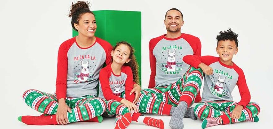 Matching Family Christmas Lama Pajamas