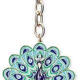 Kate Spade Jeweled Peacock Keychain