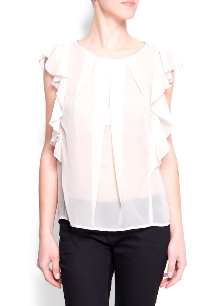 A ruffled blouse is a great way to dress up a pair of jeans in a snap. Mango Ruffled Sleeve Blouse ($20, originally $45)