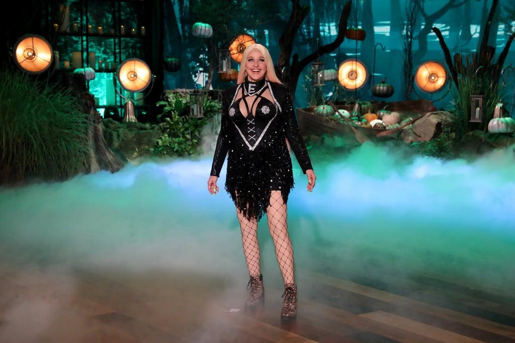 Ellen DeGeneres Dressed as Cardi B For Halloween Pictures