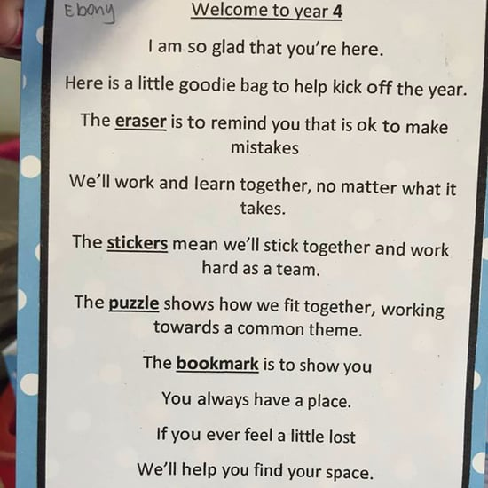 Teacher's Encouraging Note and Goodie Bag For Students