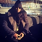Diddy looked cool while staying warm. Source: Instagram user iamdiddy