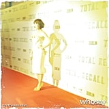 Jessica Biel walked the red carpet at the Total Recall premiere. Source: Jessica Biel on WhoSay