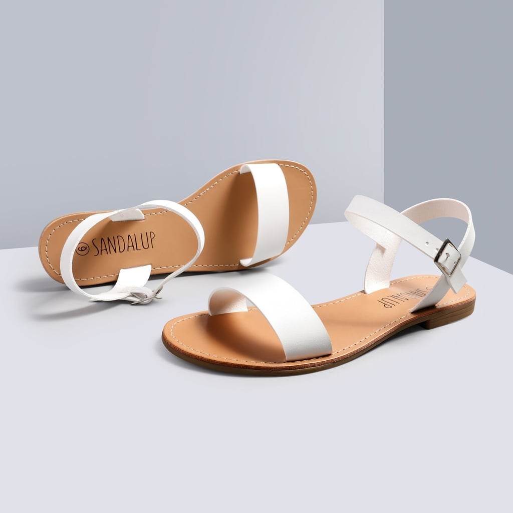 Sandalup Ankle Strap Flat Sandals