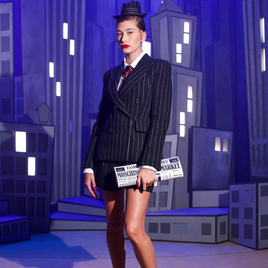 Hailey Bieber Walks in the Fall 2021 Moschino Runway Show