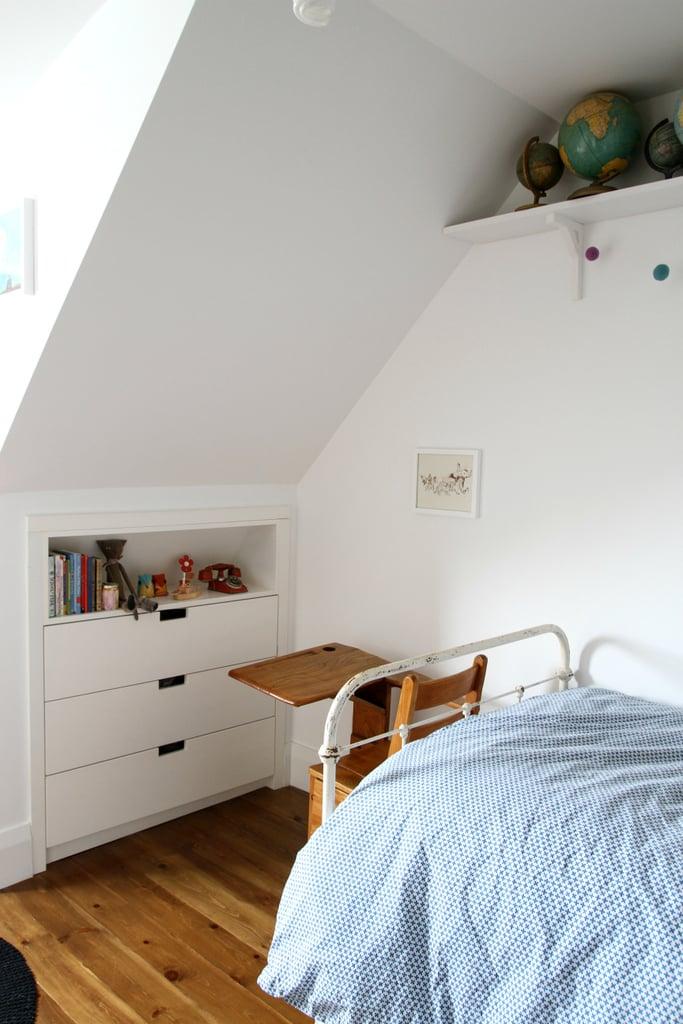 A built-in dresser