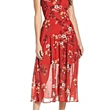 Cooper St Disco Floral Print Midi Dress