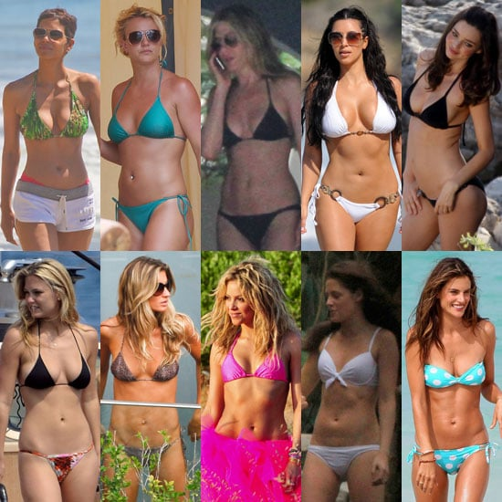 Jennifer Aniston, Britney Spears, Gisele Bikini Pictures