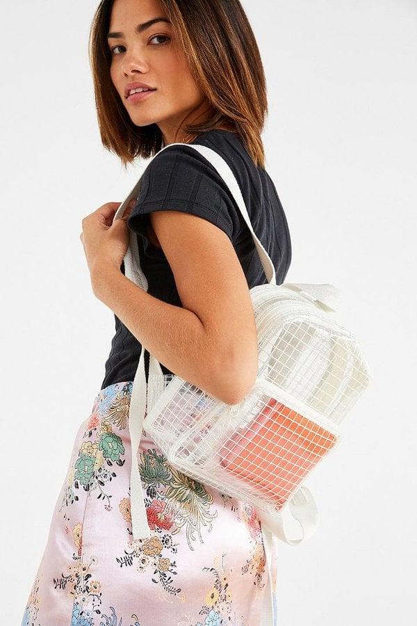 a0207d733ee Transparent Grid Mini Backpack
