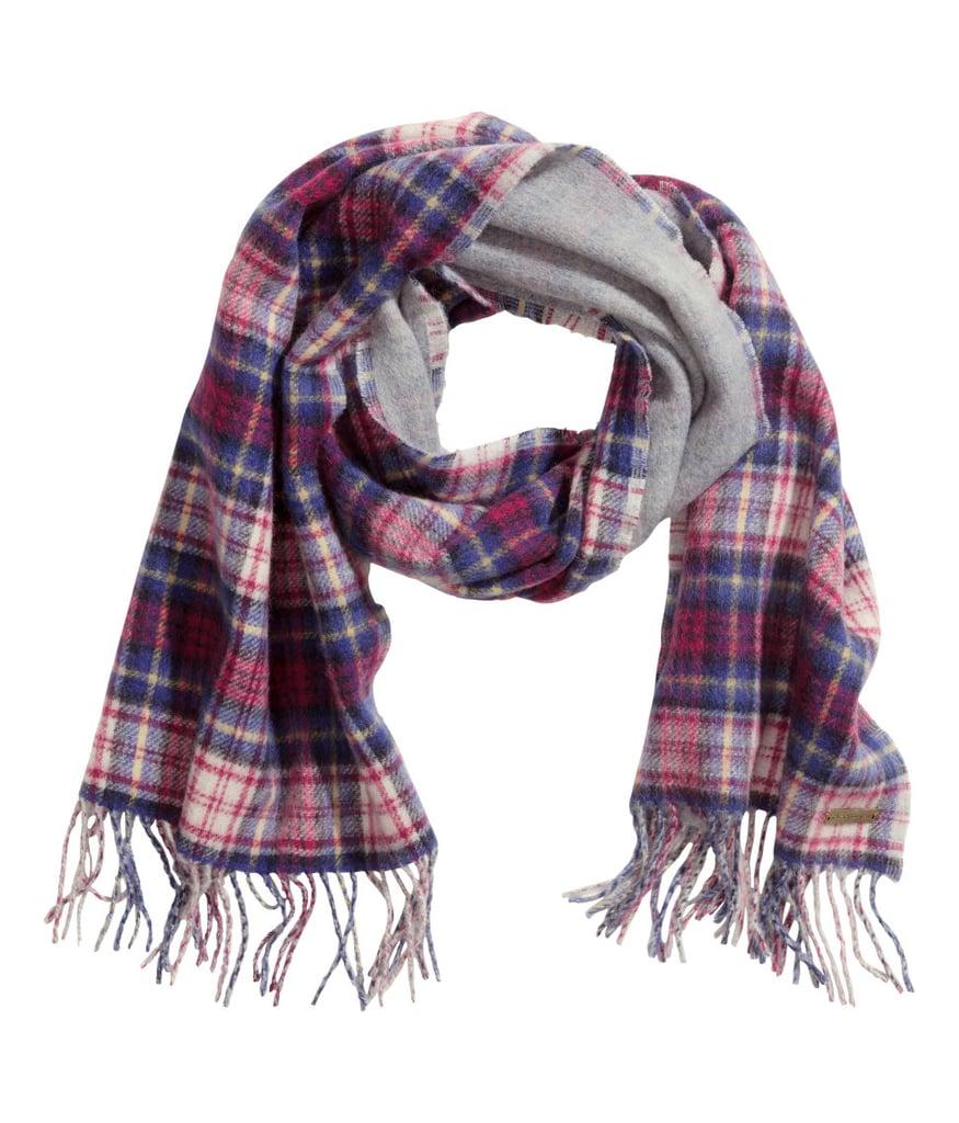 H&M Wool Plaid Scarf