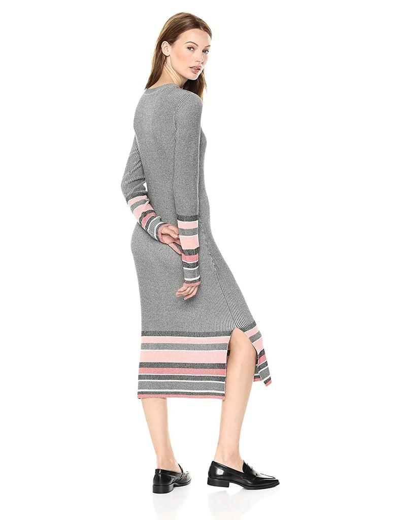 Cable Stitch Stripe Ribbed Dress