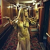 Britney Spears channeled Cleopatra for an Elizabeth Arden campaign shoot. Source: Twitter user britneyspears