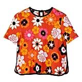 Retro Floral Pebble Crepe Top ($26)