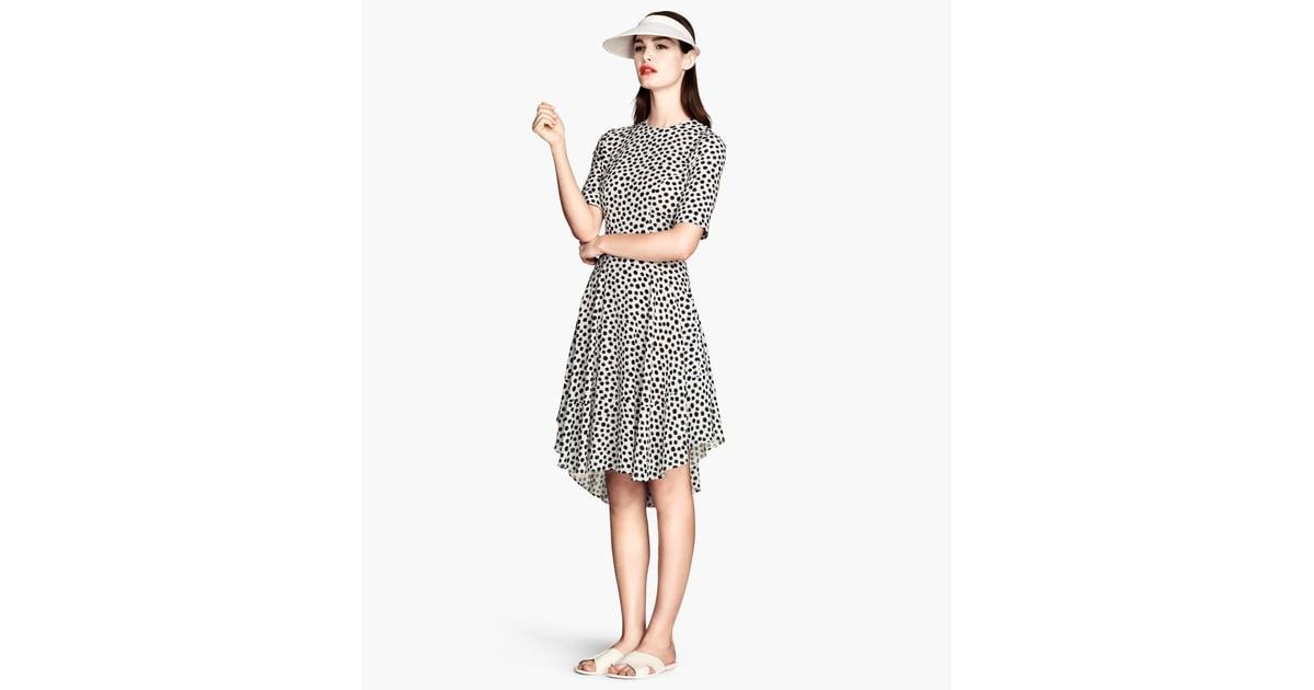 H Amp M Black And White Polka Dot Dress Best H Amp M Dresses