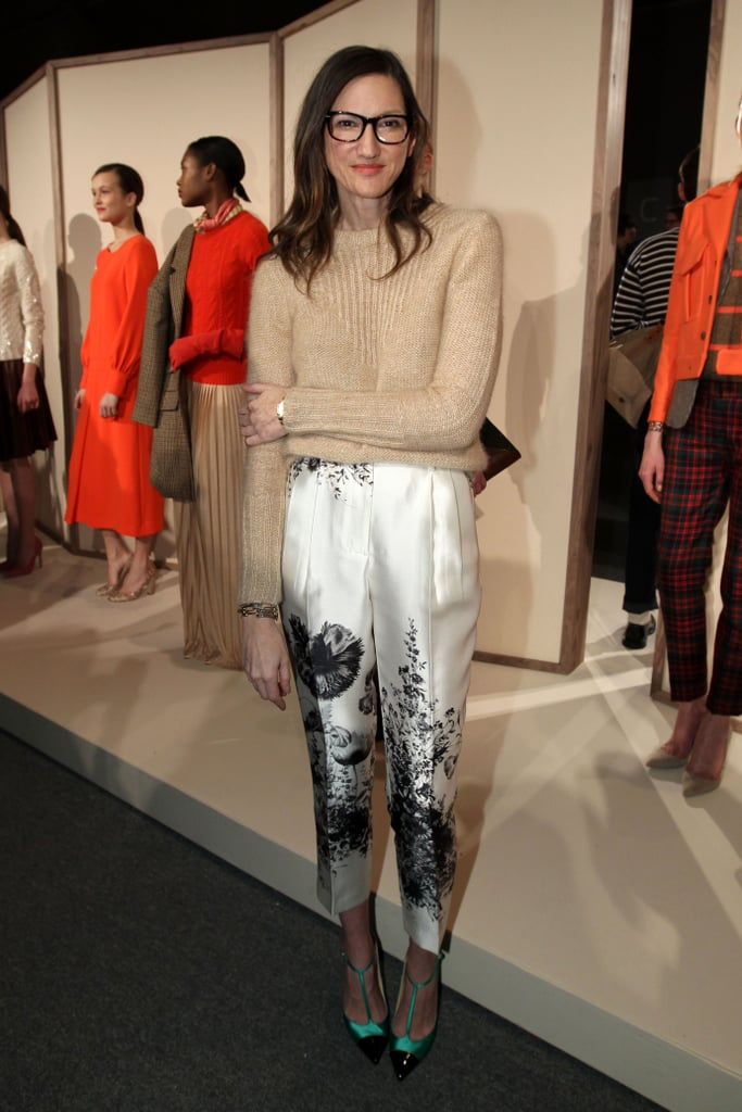 Jenna Lyons showed off her signature styling skills at J.Crew.